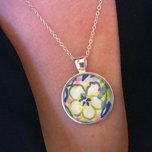 Lilly Pulitzer flower Necklace